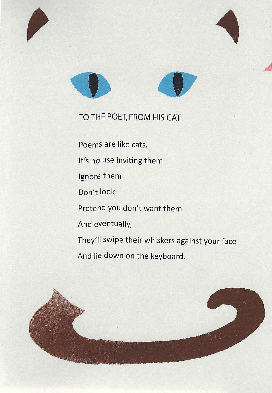poem from cat