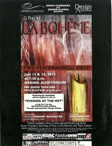 La Boheme poster
