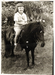 Me on pony at 4