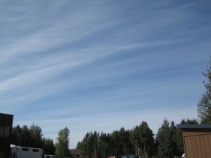 Jet stream cirrus, looking WSW