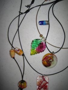Glass jewelry owned by the author