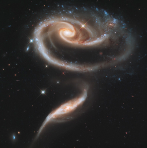 """Rose"" of galaxies (Hubble photo"