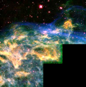 WR136 tears apart a shell of gas: Hubble