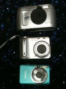 3 diginal cameras