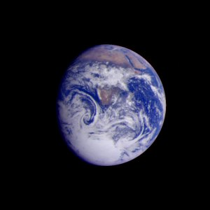 Earth, as photographed from Galileo in December. Photo credit NASA
