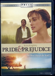 DVD cover, Pride and Prejudice