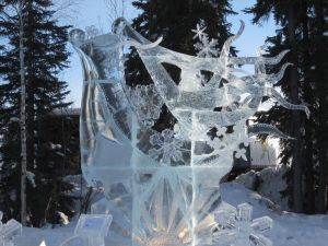 Ice Sculpture, abstract