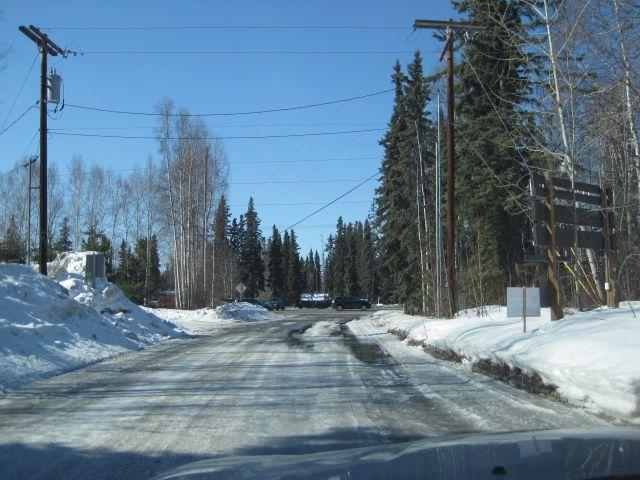 Snowmelt on road