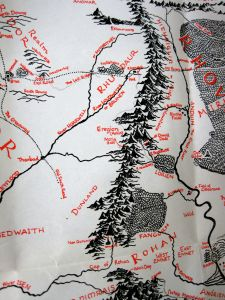 Map of the Misty Mountains, from the original English version of the book.