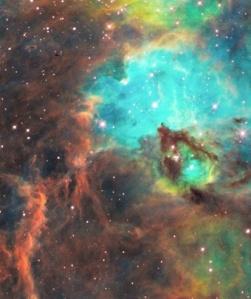 NGC 2074, Hubble