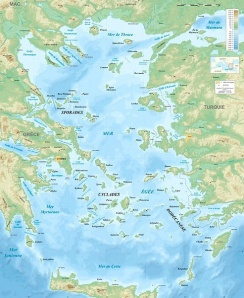 Aegean bathymetry