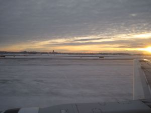 Fairbanks airport, near noon last Tuesday