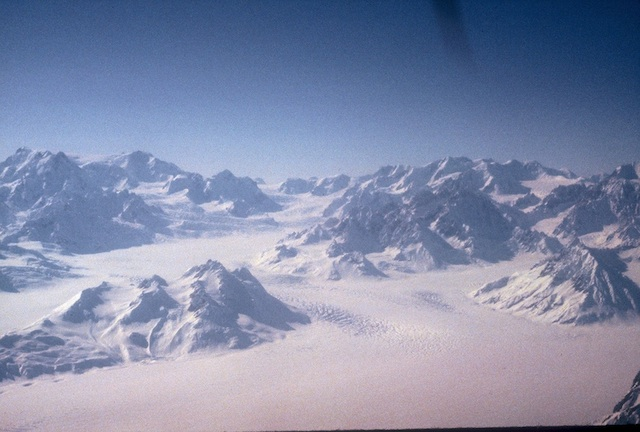 No, this isn't typical of most of Alaska, though it is of the glaciated portion of the Alaska Range.